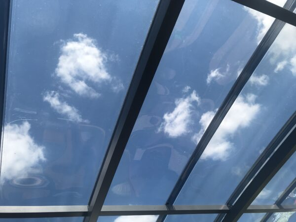Alsynite Custom Glaze flat polycarbonate in grey