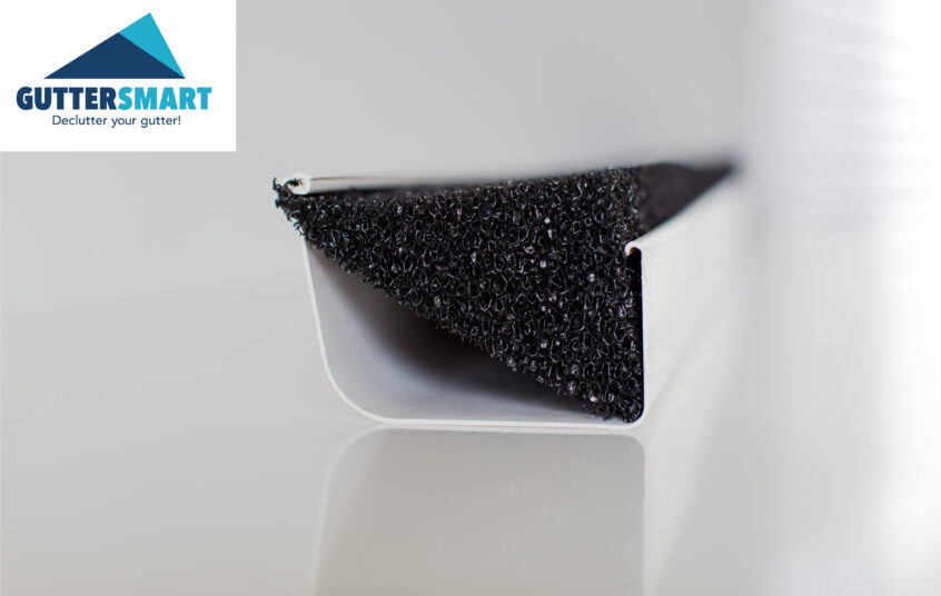 Gutter-protection-foam-guard-Guttersmart-home-logo