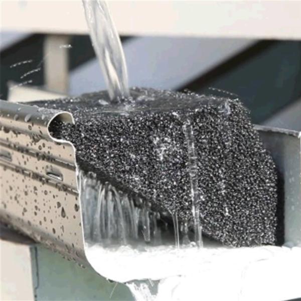 Guttersmart gutter protection water running through