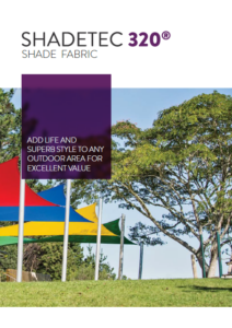 Shadetex 320 shade sail fabric brochure from Sunnyside thumbnail