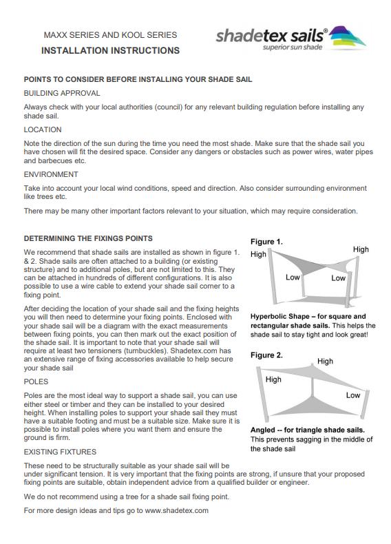 Shadetex Kool Series shade cloths installation instructions thumbnail