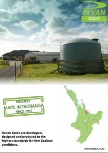 Devan water tank brochure North Island