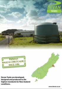 Devan water tank brochure South Island