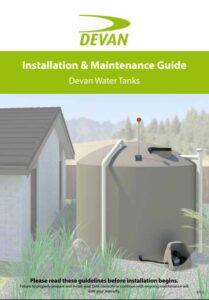 Devan water tank installation and maintenance guide