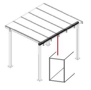 Aluminium RHS 150 x 100 beam bearer