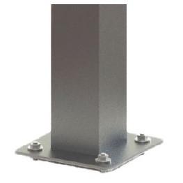 Aluminium foot plate and 200 x 200 post