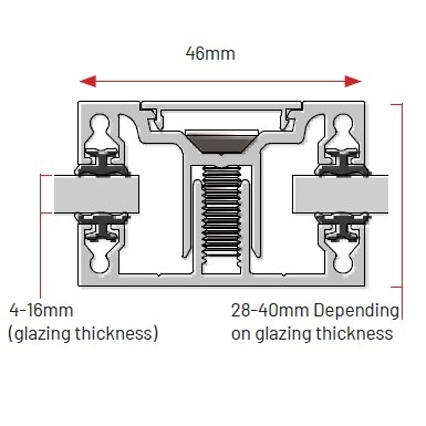 ClearSpan glazing bar diagram