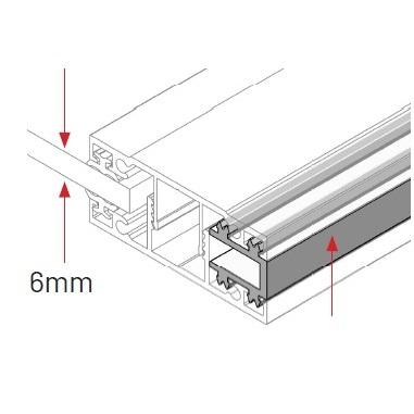 Glazing bar edge spacer 6mm