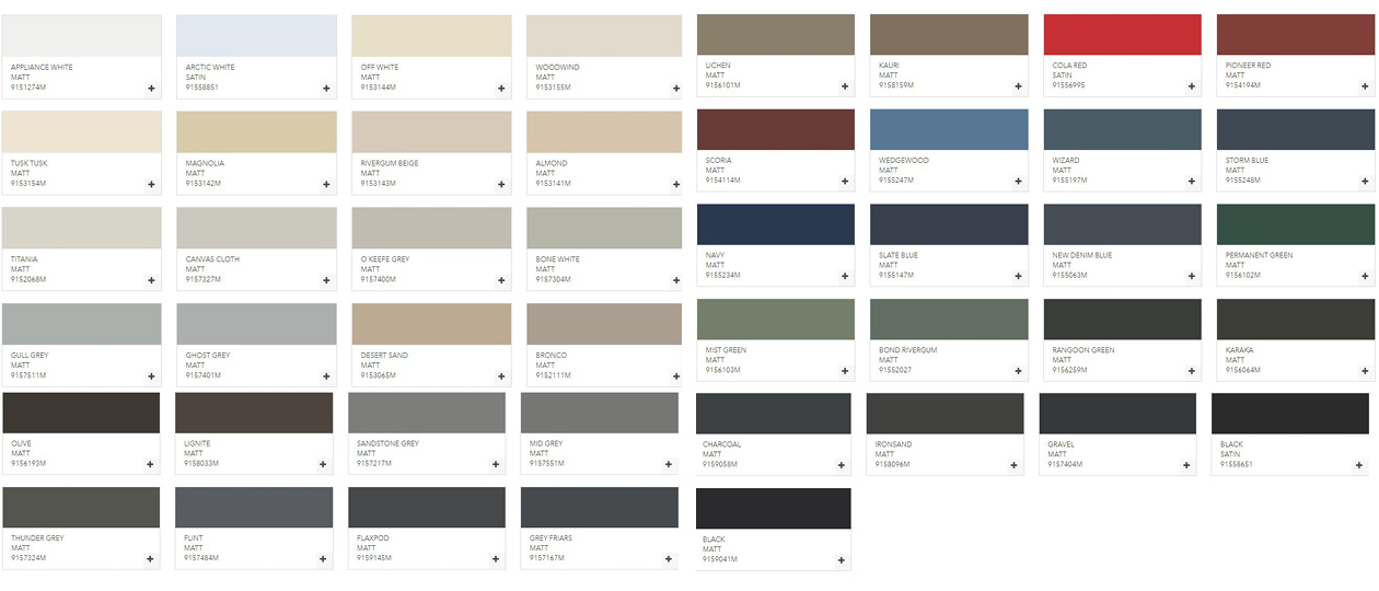 duralloy-colour-chart-for-clearspan-glazing-bars
